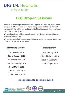 poster of digi sessions at libraries